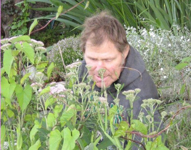 David in the garden.