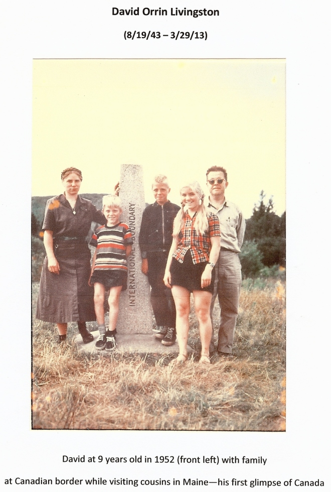 Livingston Family at Canadian Border