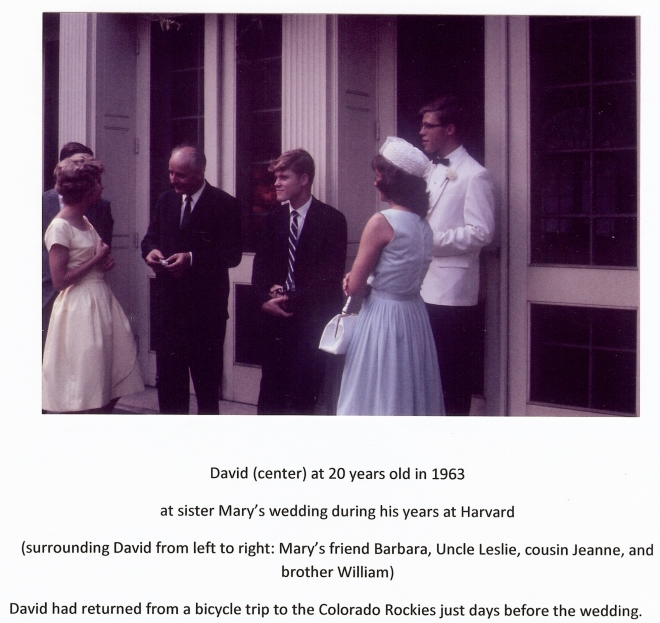 3 - David at Mary's wedding, 1963