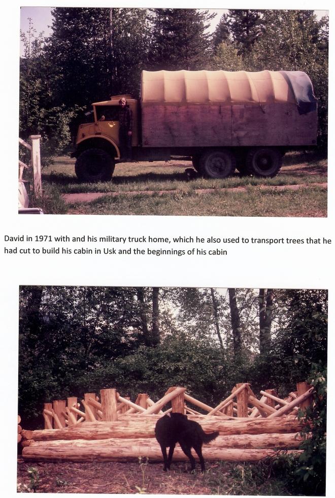 8 - David, truck & cabin beginning